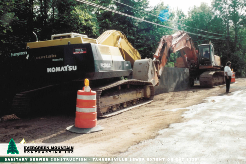sanitary-serwer-construction-tannersville-sewer_-extention-cat_-1325-evergreen-mountain-contracting-new_-york_-petosa-machines